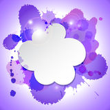Abstract speech bubble cloud with blots Royalty Free Stock Photography