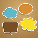 Abstract speech bubble design Stock Photos