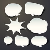 Abstract speech bubble design Royalty Free Stock Image