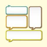 Abstract speech bubble design Royalty Free Stock Photos