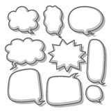 Abstract speech bubble design Stock Images