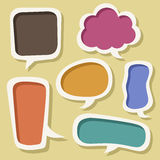 Abstract speech bubble design royalty free illustration