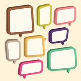 Abstract speech bubble design Stock Image