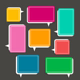 Abstract speech bubble design Stock Photography