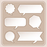 Abstract speech bubble design Stock Photo