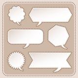 Abstract speech bubble design Stock Photo