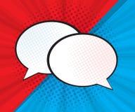 Abstract speech bubble pop art, comic book. Background illustration royalty free illustration