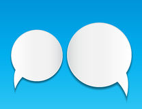 Abstract speech bubble vector background Royalty Free Stock Photos