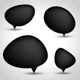 Abstract speech bubble vector background. Eps 10 Stock Image