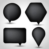 Abstract speech bubble vector background. Eps 10 Royalty Free Stock Photos