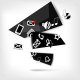 Abstract speech bubble with web icons. This is file of EPS10 format royalty free illustration