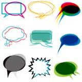Abstract speech bubbles stock illustration