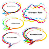 Abstract Speech Bubbles Royalty Free Stock Images
