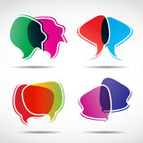 Abstract speech bubbles Stock Photos