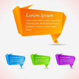 Abstract speech bubbles. Cool origami Stock Image