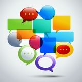 Abstract speech bubbles Royalty Free Stock Photo