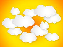 Abstract speech bubbles in the shape of clouds. Royalty Free Stock Photo