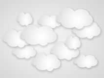 Abstract speech bubbles in the shape of clouds. Stock Image