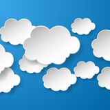Abstract speech bubbles in the shape of clouds used in a social Stock Photography