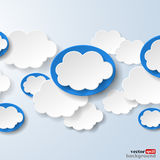 Abstract speech bubbles in the shape of clouds used in a social Royalty Free Stock Photo