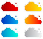 Abstract speech bubbles in the shape of clouds Stock Images