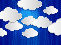 Abstract speech bubbles in the shape of clouds. Vector of abstract speech bubbles in shape of clouds used in social stock illustration