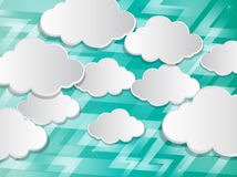 Abstract speech bubbles in the shape of clouds Stock Photography