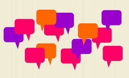 Abstract speech bubbles in vector stock image