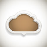 Abstract speech cloud. With bround text area Stock Image