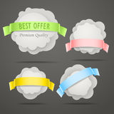 Abstract speech clouds Stock Image