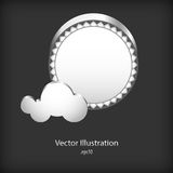 Abstract speech clouds of gear wheels Stock Photography