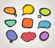 Abstract speech clound Stock Photo