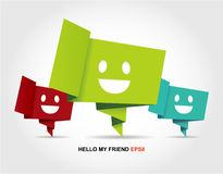 Abstract speech smile fece, backgrounds set. Royalty Free Stock Images