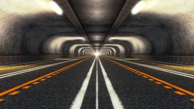 Abstract Speed Highway Road Tunnel. Abstract Speed Motion in Urban Highway Road Tunnel stock footage
