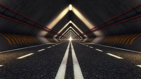 Abstract Speed Highway Road Tunnel. Abstract Speed Motion in Urban Highway Road Tunnel stock video