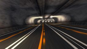 Abstract Speed Highway Road Tunnel. Abstract Speed Motion in Urban Highway Road Tunnel stock video footage