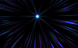 Abstract speed lens flare. On black background royalty free illustration