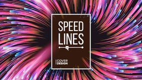 Abstract Speed Lines Vector. Dynamic Effect. Radial Geometric Background. Moving Colorful Lines. Illustration. Speed Lines Vector. Explosion Effect. Space vector illustration