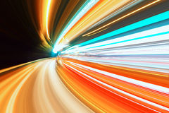 Abstract speed motion on a highway road Royalty Free Stock Photos