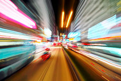 Abstract speed motion on a highway road Stock Image