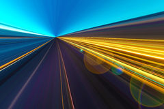 Abstract speed motion on a highway road Royalty Free Stock Photo