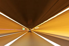 Abstract Speed motion in highway tunnel Stock Images
