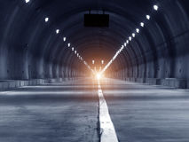 Abstract speed motion in urban highway road tunnel Stock Photography
