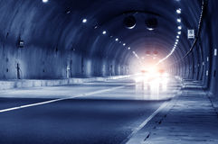 Abstract speed motion in urban highway road tunnel Stock Image