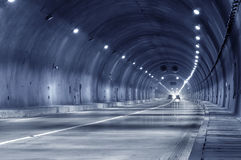 Abstract speed motion in urban highway road tunnel Royalty Free Stock Photography