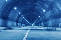 Abstract speed motion in urban highway road tunnel Stock Photos
