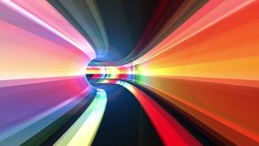 Abstract speed motion in a virtual reality tunnel