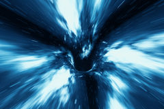 Abstract speed tunnel warp in space, wormhole or black hole, scene of overcoming the temporary space in cosmos, 3d. Abstract speed tunnel warp in space, wormhole Royalty Free Stock Photography