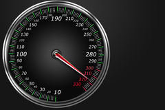 Abstract speedometer. On a black background stock illustration