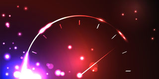Abstract speedometer. In the luminous background. Vector illustration Stock Images